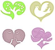 Symbolichearts Royalty Free Stock Photo