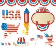 Symbolics americano Imagem de Stock Royalty Free
