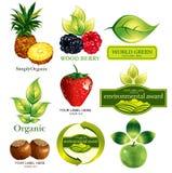 Symbolics ecológico ilustração stock