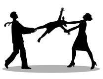 Symboliczna ilustracja, bitwa o opiekę nad dzieckiem Zdjęcie Stock