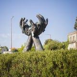 Symboliczna statua alvarinho wino Obraz Royalty Free