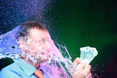 Symboliczny pranie brudnych pieniędzy zdjęcia royalty free