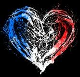 Symboliczny serce w kolorach francuz flaga Zdjęcia Royalty Free
