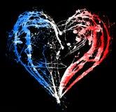 Symboliczny serce w kolorach francuz flaga ilustracja wektor