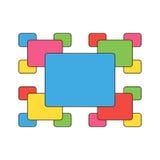 Symboliczny wzór barwioni prostokąty Obraz Royalty Free