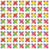 Symboliczny wzór barwioni prostokąty, bezszwowy wzór Obraz Stock