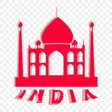 Symboliczny znak wycieczka India ilustracja wektor