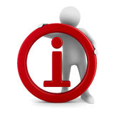 Symbolinformationen über weißen Hintergrund Lizenzfreie Stockfotos