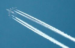 Symbolisch beeld: vliegtuig Royalty-vrije Stock Afbeelding