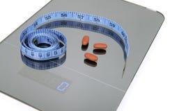 Symbolisch beeld voor gewichtsverlies Stock Foto