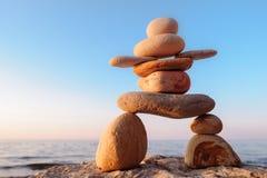 Symbolisch beeldje van stenen Stock Afbeelding