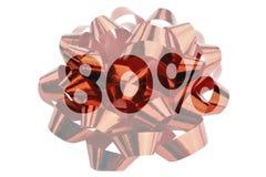 Symbolisch dargestellt 80 Prozent mit Bild einer Geschenkschleife stockfotografie