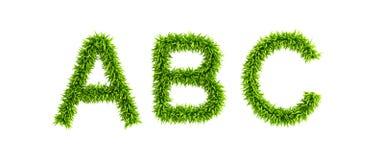 Symbolisch grasrijk alfabet Royalty-vrije Stock Afbeeldingen