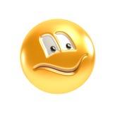 Symbolisch het glimlachen gezicht Stock Foto's