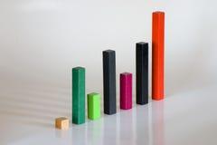 Symbolisch staaf bedrijfsdiagram Stock Fotografie
