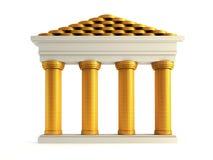 Symbolische bank Royalty-vrije Stock Foto's