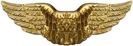 Symbolische Gouden Vleugels Stock Afbeelding