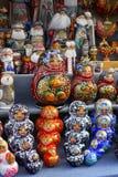 Symbolische herinneringen van Russische cultuur op verkoop Royalty-vrije Stock Foto's