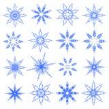 Symbolische sneeuwvlokken. Royalty-vrije Stock Foto's