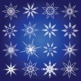 Symbolische sneeuwvlokken. Stock Foto