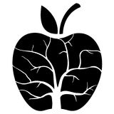 Symbolischer Baum innerhalb des Apfels Lizenzfreie Stockfotografie