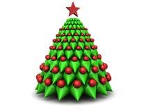 Symbolischer Weihnachtsbaum Lizenzfreies Stockfoto