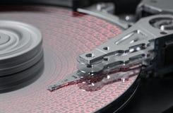 Symbolisches Festplatten- und Datendetail Lizenzfreies Stockfoto