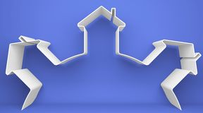 Symbolisches Haus Lizenzfreies Stockbild