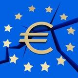 Symbolisiert - europäische Schuld-Krise lizenzfreie abbildung