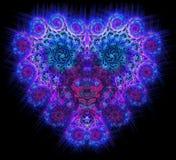 Symbolisk diamant hjärta-formad blå hjärta det Royaltyfria Foton