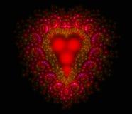 Symbolisk diamant hjärta-formad röd hjärta det Royaltyfri Fotografi