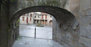 Symbolisk fyrkant i Pontevedra Spanien Arkivbild