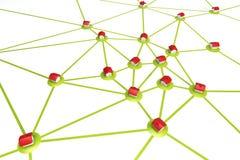 symbolisk nätverksbosättning Fotografering för Bildbyråer