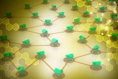symbolisk nätverksbosättning Arkivbild
