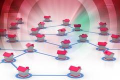 symbolisk nätverksbosättning Arkivbilder