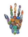 Symboliska Crystal Healing Hand Arkivfoton
