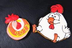 Symboliska kakor för nytt år Royaltyfri Fotografi