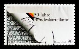 Symbolism för skyddet av konkurrens, 50 år federal kartell Officeserie, circa 2008 Royaltyfria Bilder