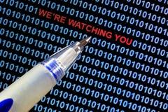 Symbolisme de surveillance Photos stock