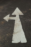 Symbolize the arrows on the street. Arrows pointing the way royalty free stock images
