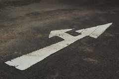 Symbolize the arrows on the street. Arrows pointing the way royalty free stock image