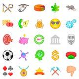 Symbolize icons set, cartoon style. Symbolize icons set. Cartoon set of 25 symbolize vector icons for web isolated on white background stock illustration