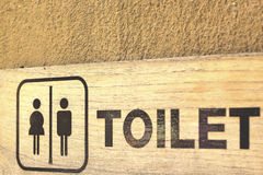 Symbolize toilets Royalty Free Stock Photo