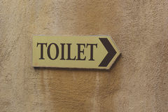 Symbolize toilets. On the wall Royalty Free Stock Photography
