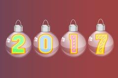 Symbolkalender 2017 der Zahl Stockfoto