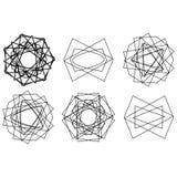 Symbolmusterikonenstern-Astrologie gesetzter Pentagram Lizenzfreies Stockbild