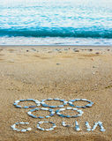 Symbology of the olympiad. From stone on seashores Stock Images
