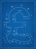 Symbolritning för brittiskt pund Arkivbilder