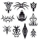 Symbols. Different symbols, modern, new, full of fantasy, as well as exclusive. All of the Royalty Free Stock Image