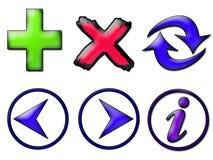 Symbols. Various web symbols on white background Royalty Free Illustration